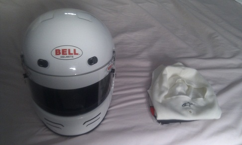 Bell Helmet and Alpinestars Balaclava